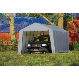 ShelterLogic 12W x 32L x 8H Peak 9oz Green Portable Garage