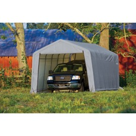 ShelterLogic 12W x 32L x 8H Peak 9oz Grey Portable Garage