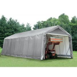 ShelterLogic 15W x 60L x 12H Peak 14.5oz Grey Portable Garage