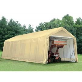 ShelterLogic 15W x 28L x 12H Peak 9oz Tan Portable Garage