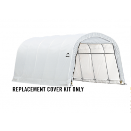 ShelterLogic Replacement Cover Kit 12x20x8 Round 21.5oz PVC White