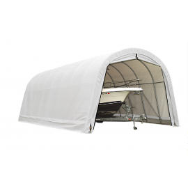 ShelterLogic 15W x 28L x 12H Round 21.5oz White Portable Garage