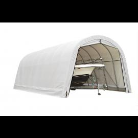 ShelterLogic 15W x 56L x 12H Round 14.5oz White Portable Garage