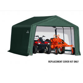 ShelterLogic Replacement Cover Kit 12x12x8 Peak 21.5oz PVC Green
