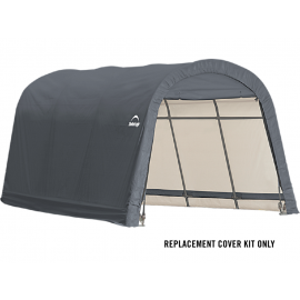 ShelterLogic Replacement Cover Kit 10x15x8 Round 14.5oz PVC Grey