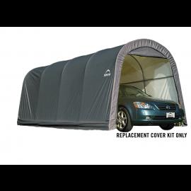 ShelterLogic Replacement Cover Kit 10x20x8 Round 14.5oz PVC Grey
