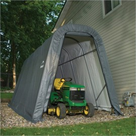 ShelterLogic 8W x 12L x 8H Round 9oz Grey Portable Garage