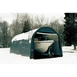 ShelterLogic 13W x 32L x 10H Round 14.5oz Grey Portable Garage