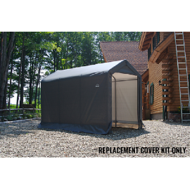ShelterLogic Replacement Cover Kit 6x10x6.5 Peak 14.5oz PVC Grey