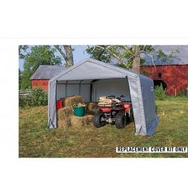 ShelterLogic Replacement Cover Kit 12x12x8 Peak 14.5oz PVC Grey