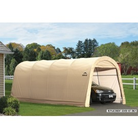 ShelterLogic Replacement Cover Kit 10x20x8 Round 5.5oz Tan