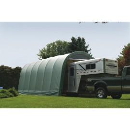 ShelterLogic 15W x 24L x 12H Round 9oz Grey Portable Garage