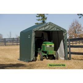 ShelterLogic 9W x 28L x 10H Peak 9oz Green Portable Garage