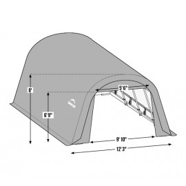 12W x 20L x 10H Round Wind and Snow Load Portable Garage