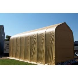 ShelterLogic 16W x 60L x 16H Peak 9oz Tan Portable Garage