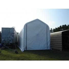 ShelterLogic 16W x 56L x 16H Peak 21.5oz White Portable Garage